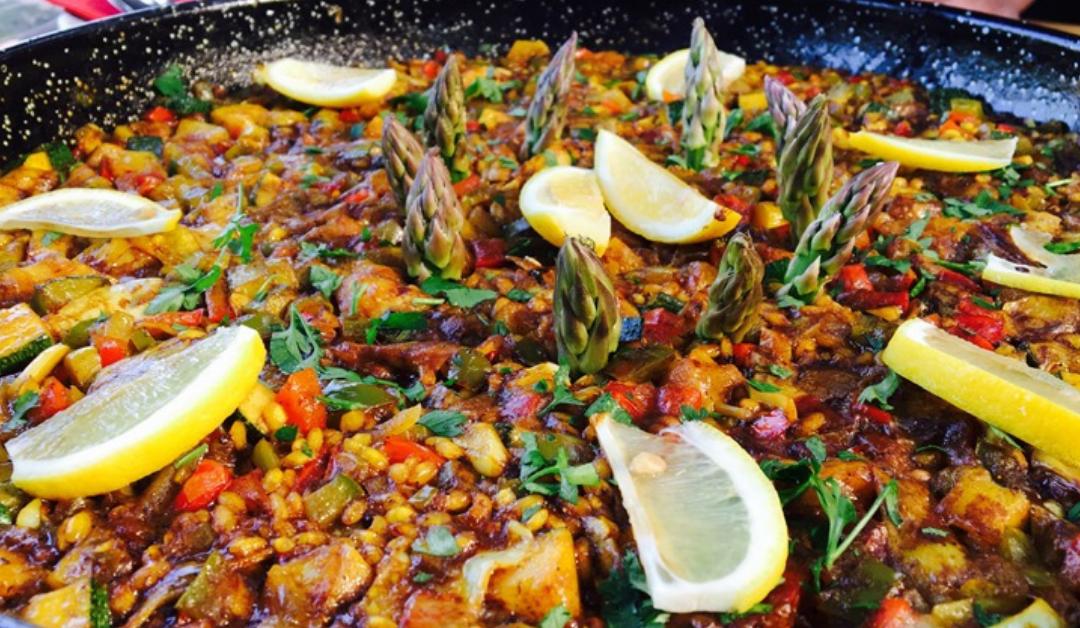 Groenterijke Paella