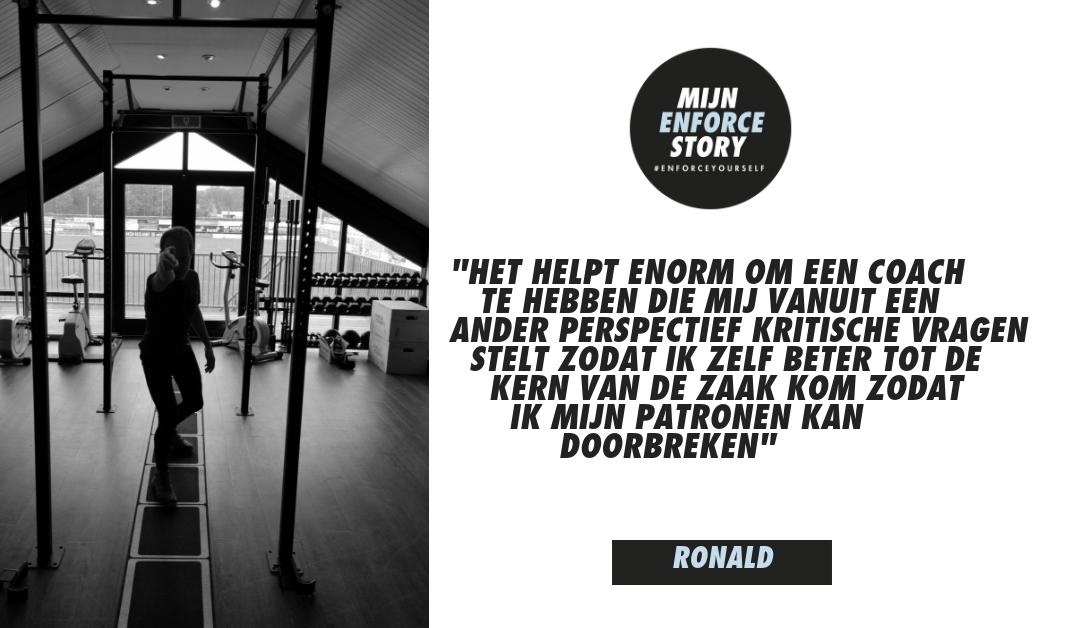 """De Enforce story van Ronald: """"Het gaat om het analyseren van je gedrag en patronen"""""""