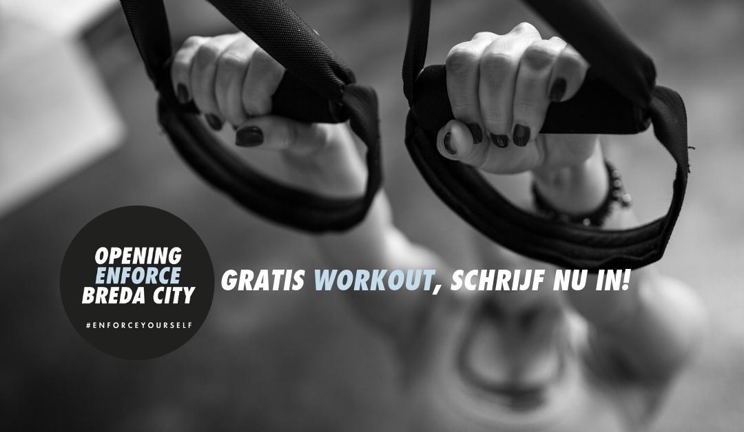 Al een tijdje non-actief, schrijf nu in voor een gratis Enforce workout!