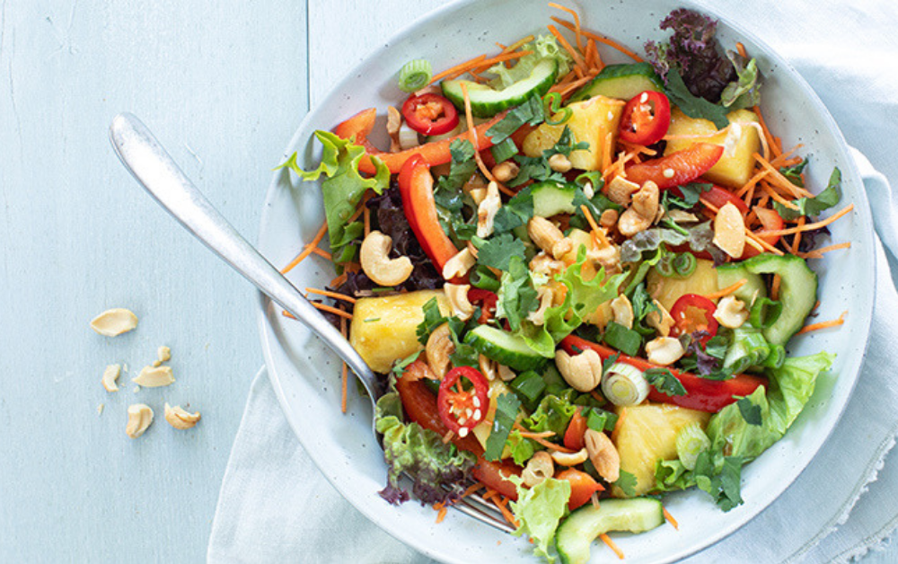 Thaise salade met ananas