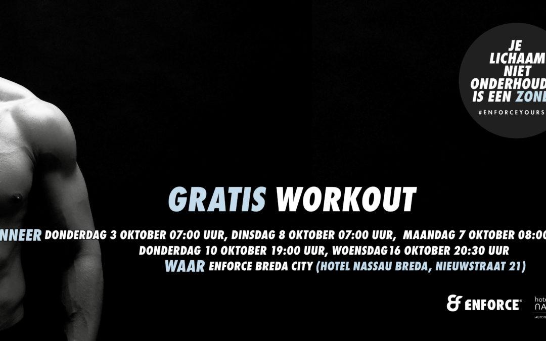 Niet stoppen in oktober, maar starten! Schrijf je nu in voor een gratis FIT workout!