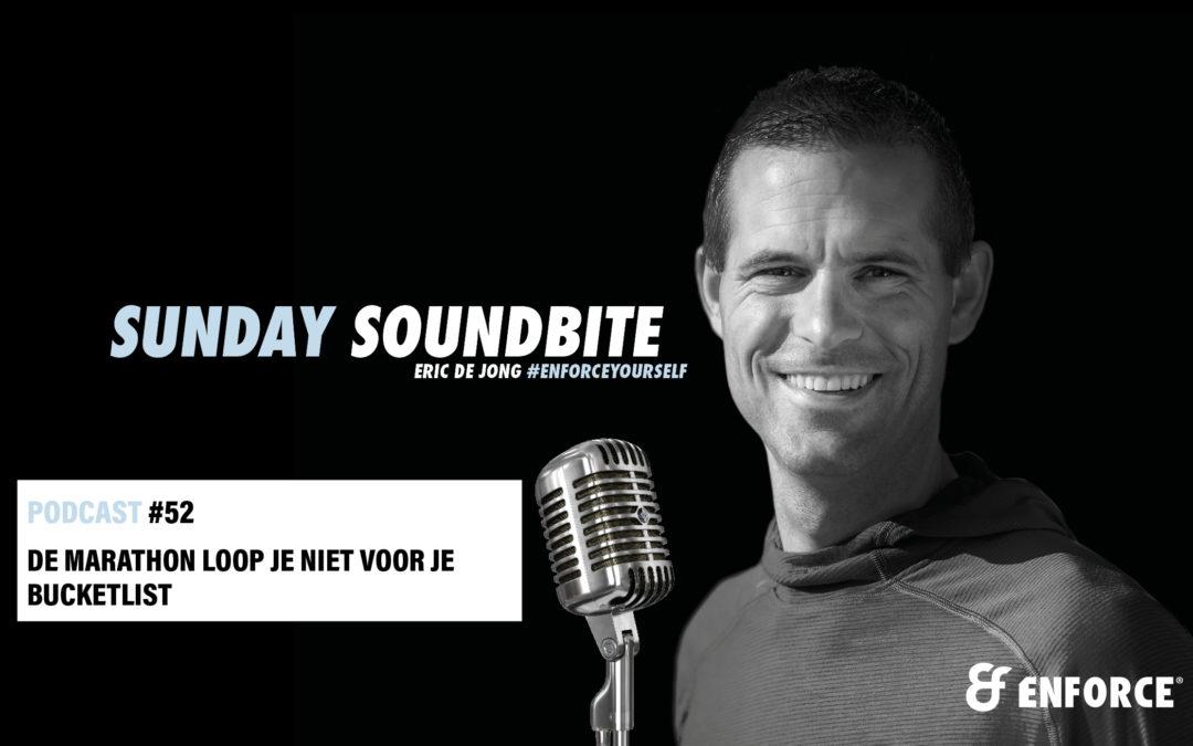 Sunday soundbite: De marathon loop je niet voor je bucketlist