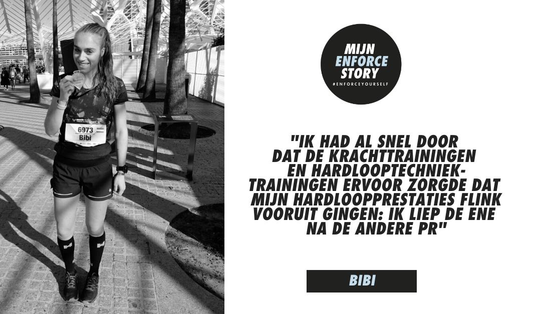 De Enforce story van Bibi Bond: 33 minuten sneller dan mijn eerste marathon